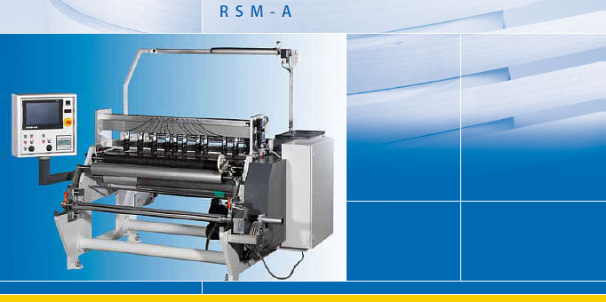 RSM-A 1600 - Automatic roll slitting machine